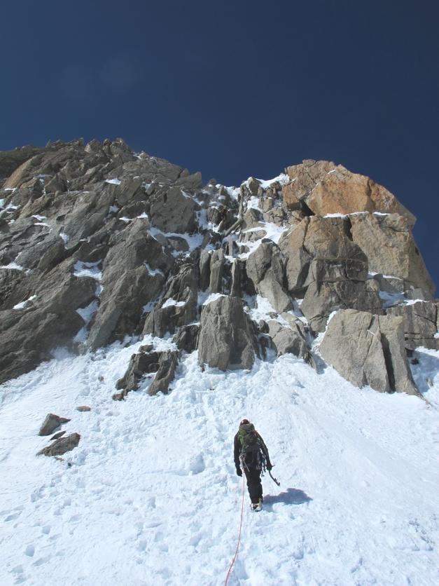 Approaching the Pointe de Lachenal