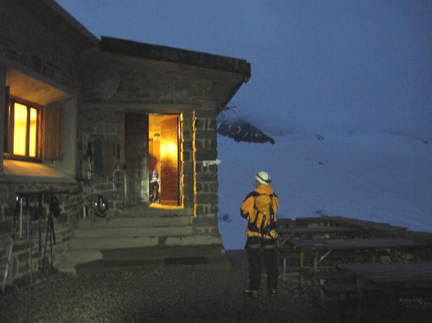 Alpine start, leaving the hut at 4:30am