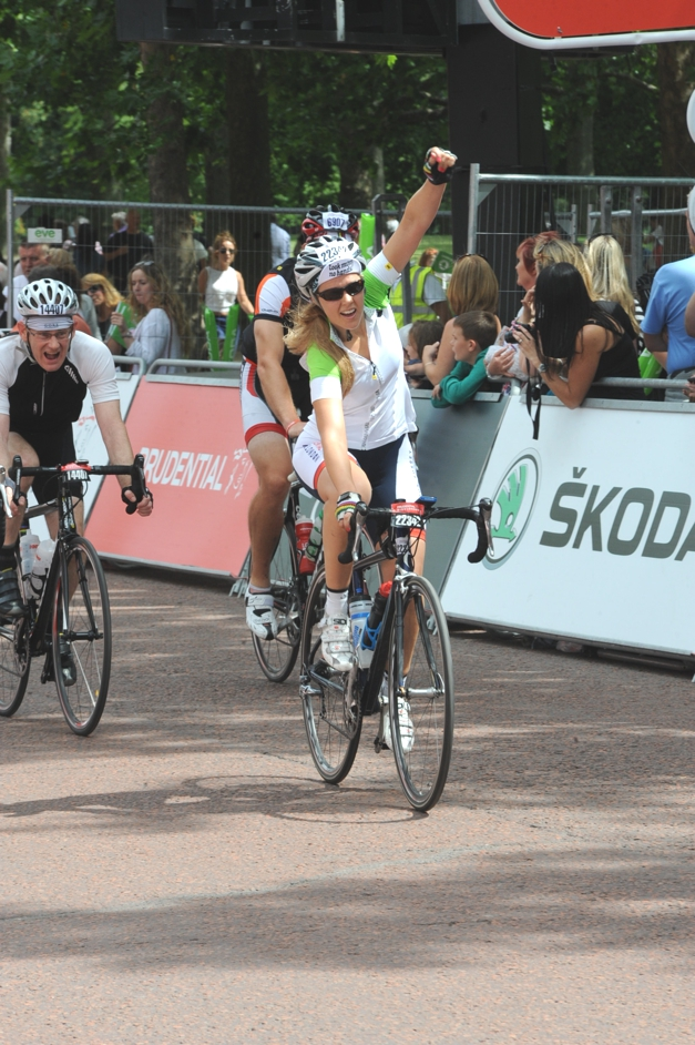 Sprint finish on RideLondon