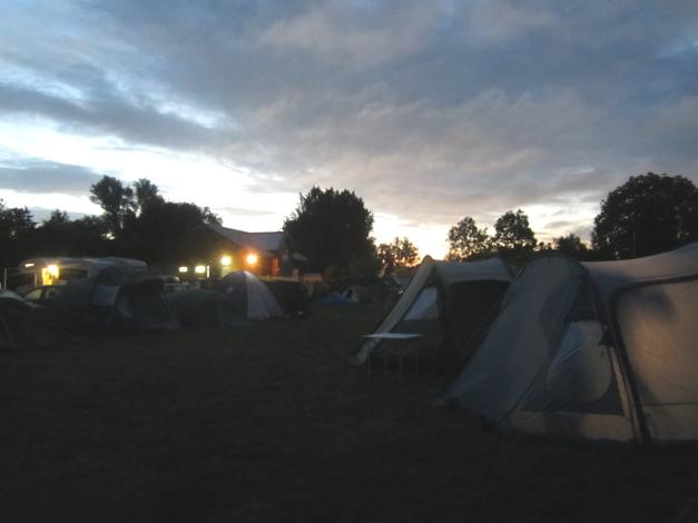 5am in the campsite