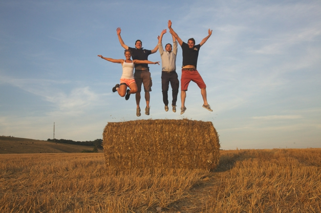 Every adventure needs a silly jumping shot!
