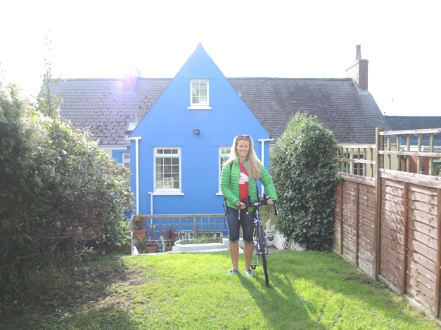 Our lovely cottage on the bike route