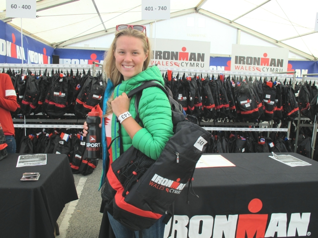 Registering for my race pack, excited!