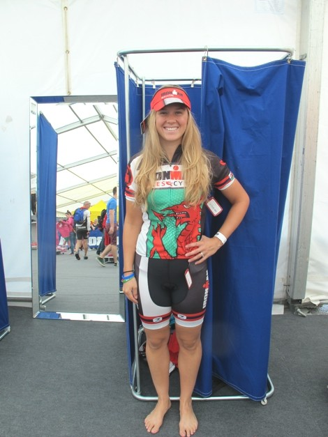Shopping at Ironman Wales (didn't buy all this!)