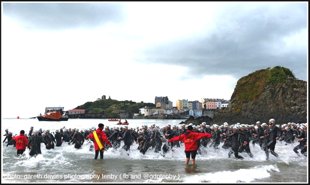 Ironman Wales Swim Start