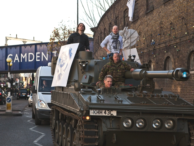 Riding in a tank, as you do...
