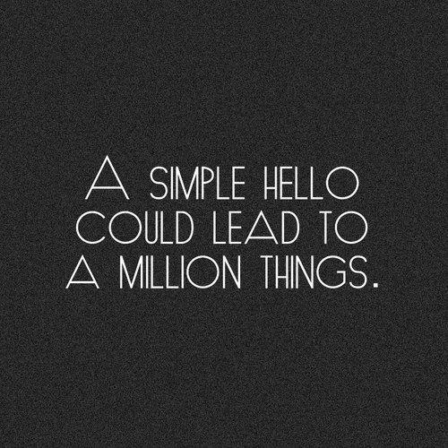 simple hello