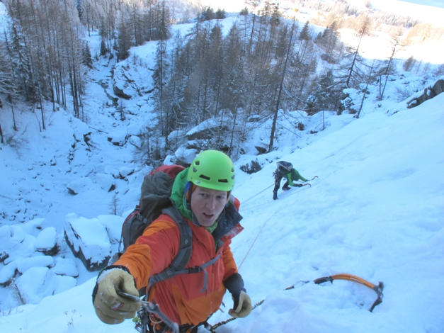 Ice climbing, Cogne
