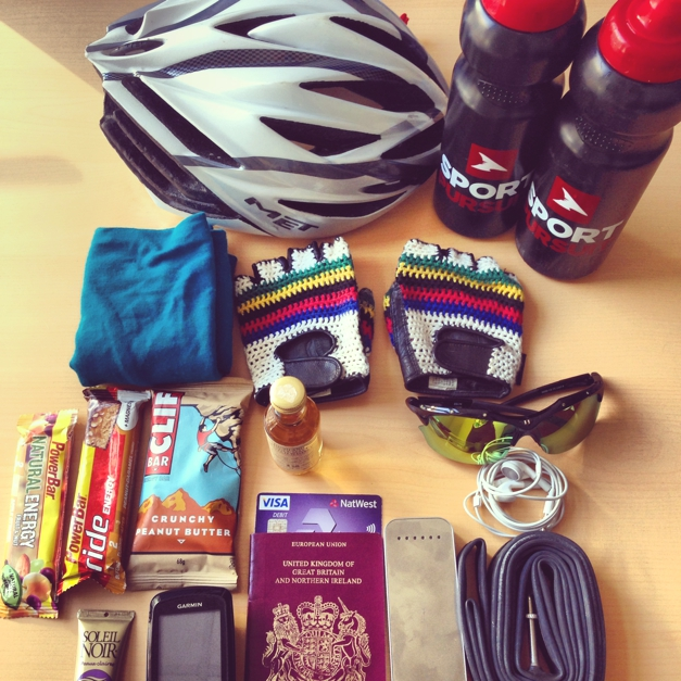 Travelling light London to Paris Cycle Kit