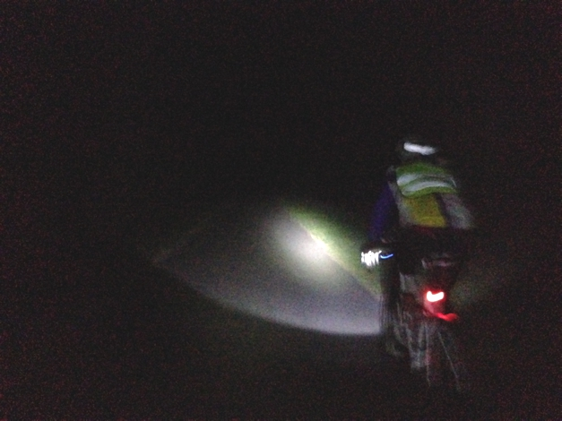 30 miles in the dark