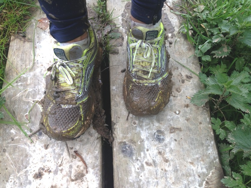 Muddy feet!! Sophie Radcliffe running London to brighton
