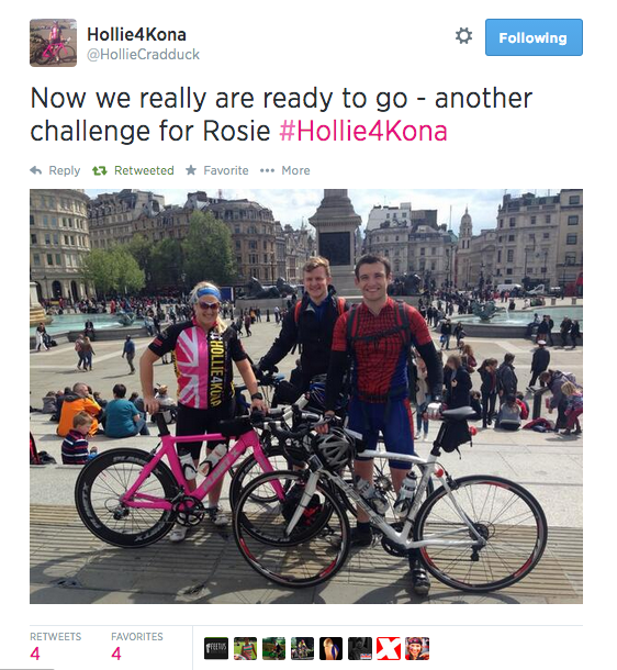 London to Paris Cycling Challenge, Challenge Sophie