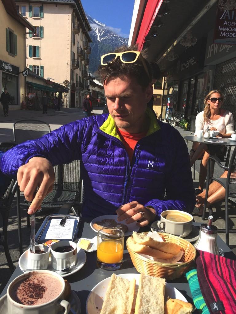 Breakfast - Charley Radcliffe Chamonix