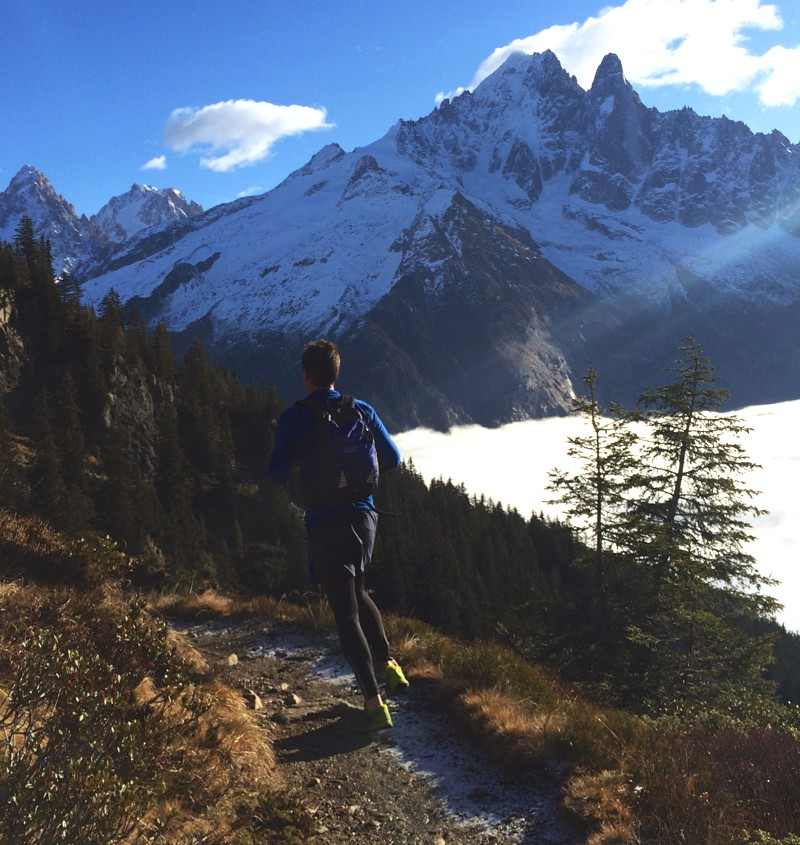 Running the Vertical KM in Chamonix