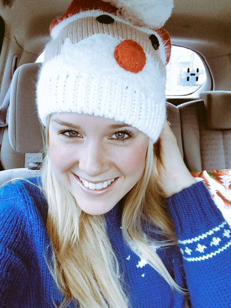 Sophie Radcliffe, Christmas hat and jumper