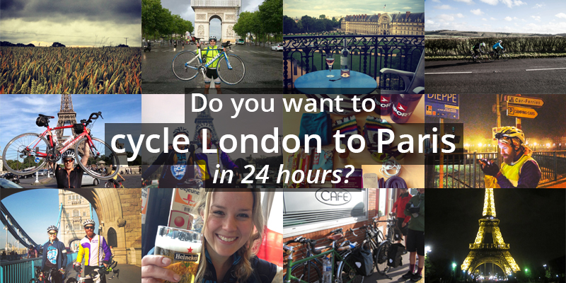 cycling London to Paris in 24 hours
