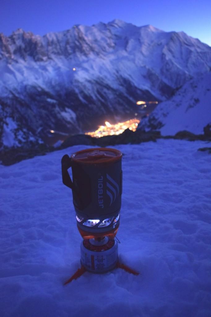 winter alpine bivvy Chamonix Mont Blanc