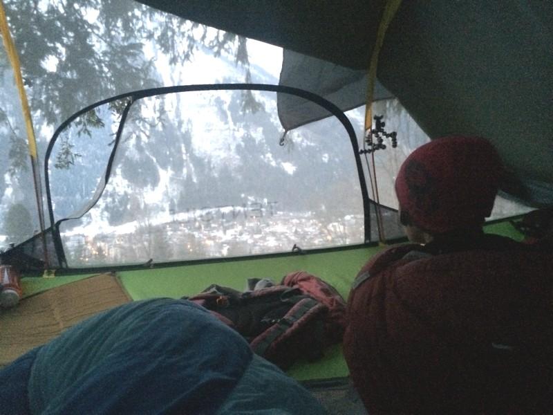 Tentsile - wild camping Chamonix