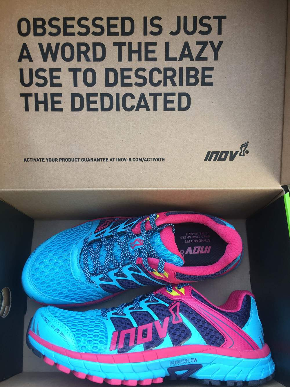 The road claws from Inov-8 that passed the test. Love the messaging!
