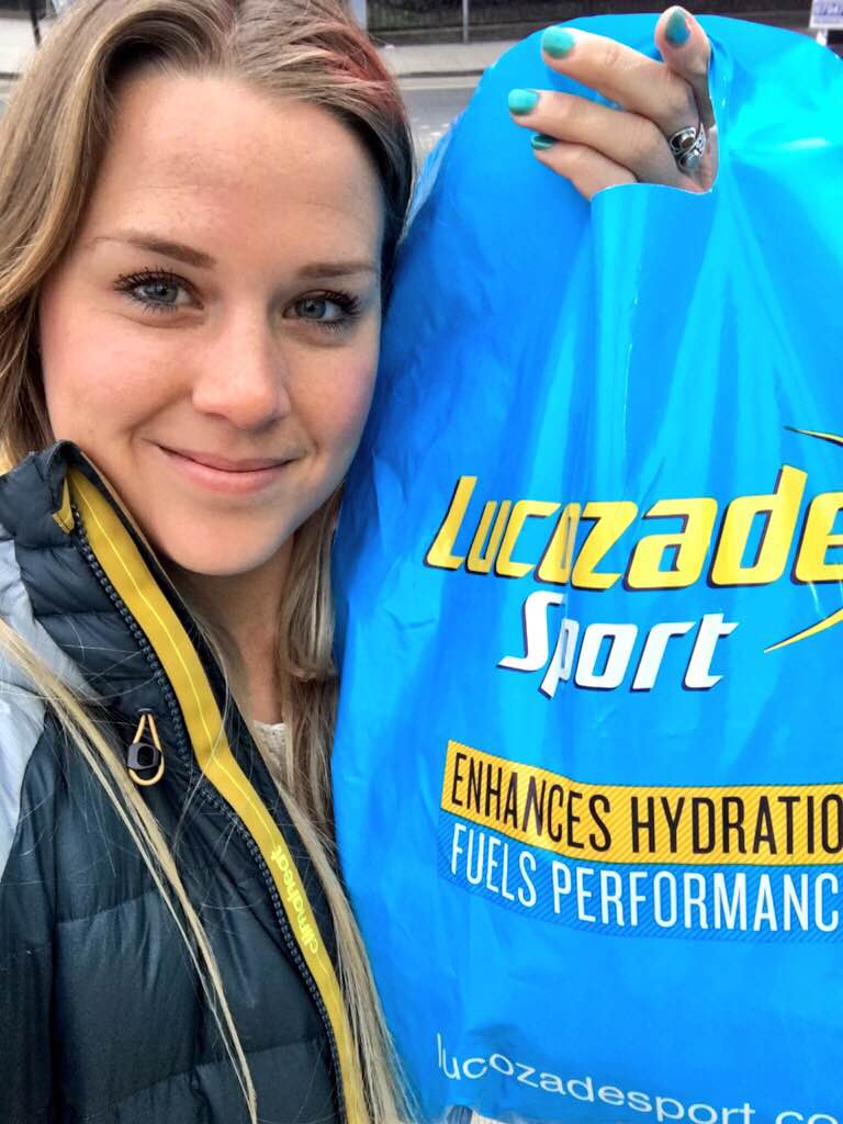 Picking up supplies before the Lucozade photoshoot. Photos coming soon!