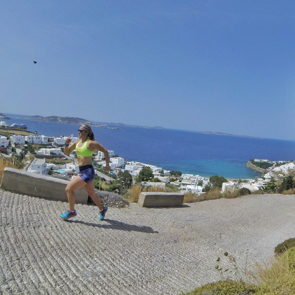 Hill sprints in Greece