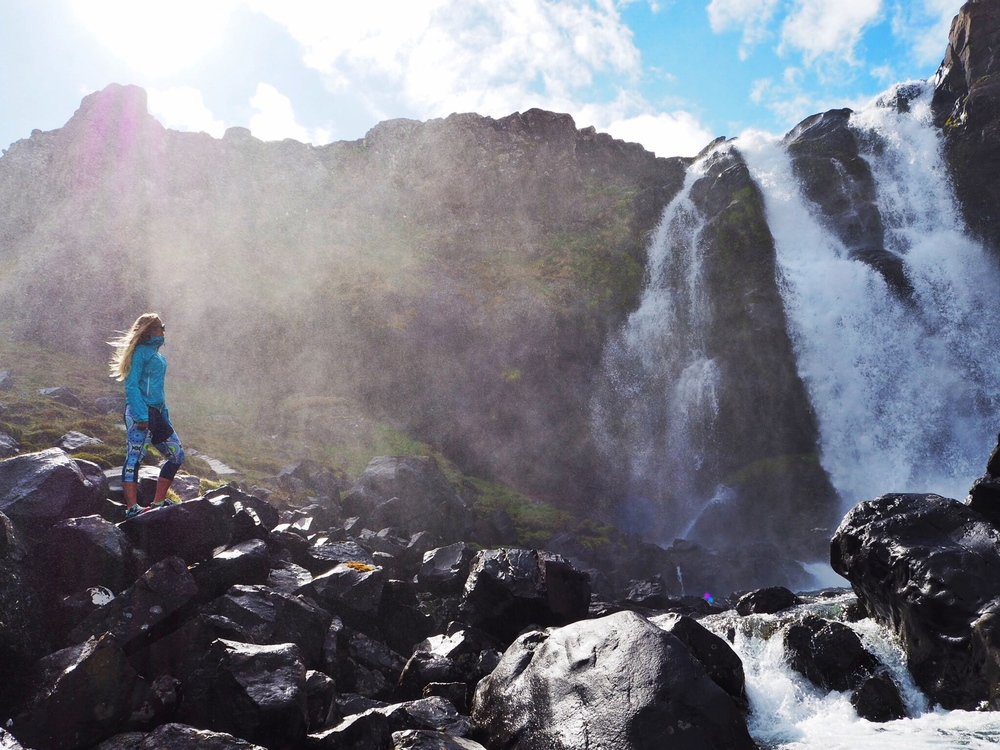 Sophie Radcliffe Travel Blogger East Iceland Discover The World Waterfall