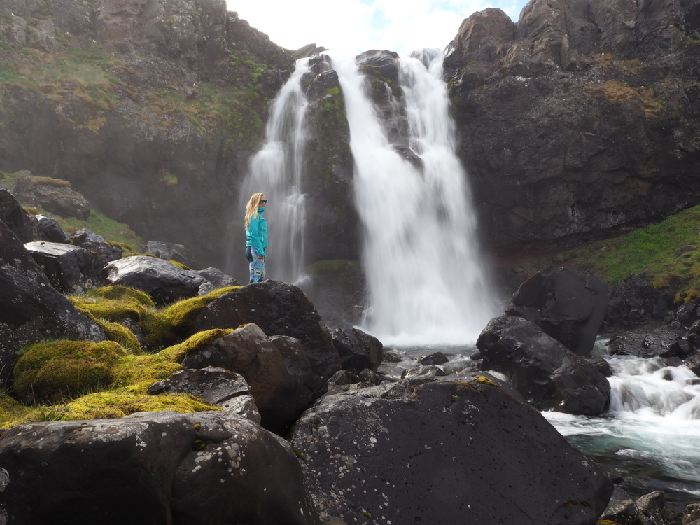 Sophie Radcliffe Travel Blogger East Iceland Adventure Waterfall