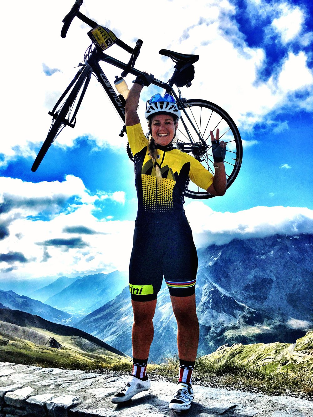 Sophie Radcliffe, Challenge Sophie - Cycling the Alps Haute Route