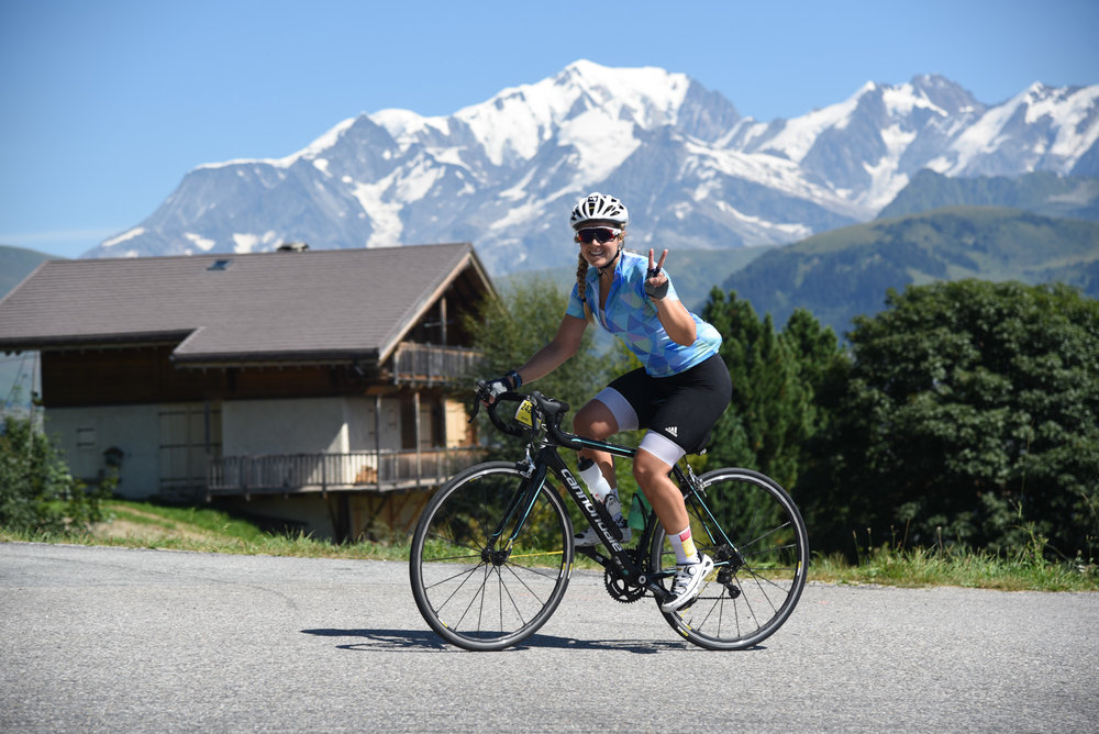 Sophie Radcliffe, Challenge Sophie Cycle the Alps Haute Route