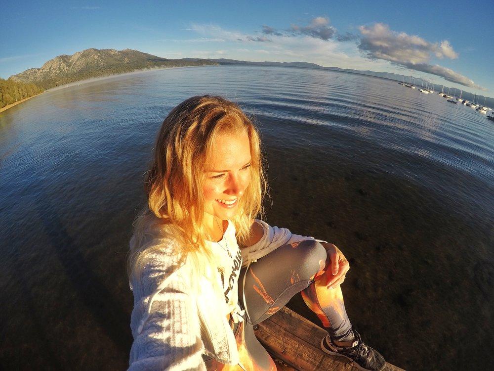 Sunrise on Lake Tahoe, California