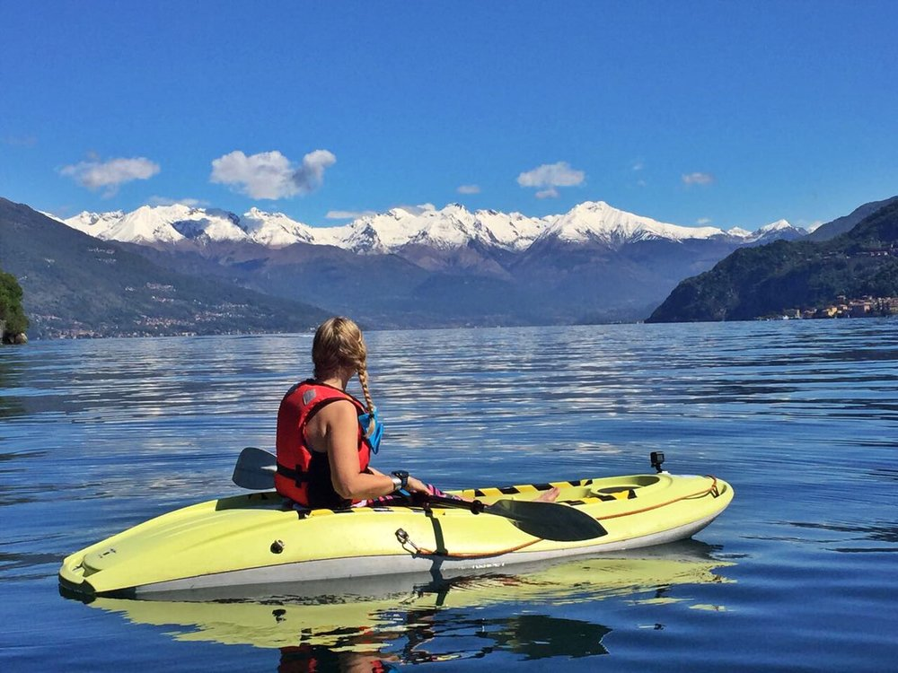 Kayaking, Bellagio, Lake Como, Italy, Adventure Travel Blog