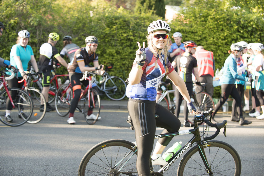 Cycling London to Paris in 24 hours. Challenge Sophie, Sophie Radcliffe