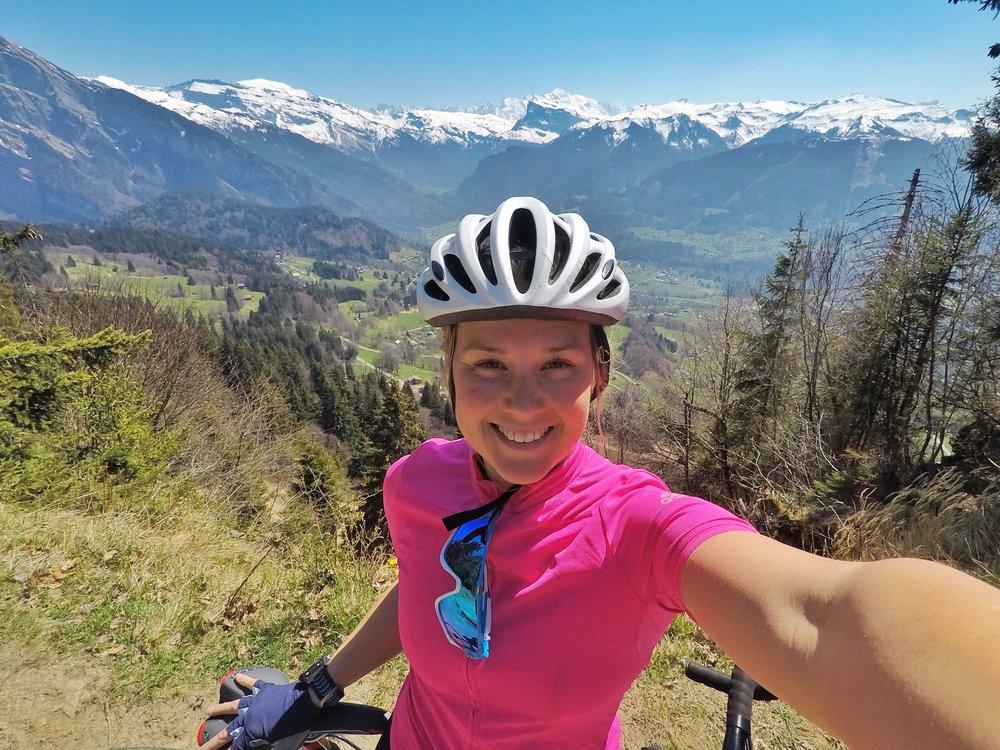 Digital Nomad, Cycling Morzine, Sophie Radcliffe, Challenge Sophie