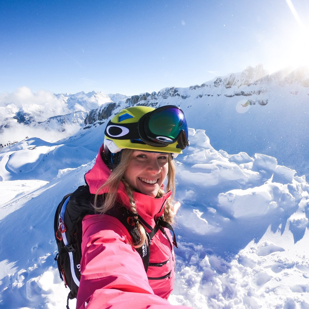 Challenge Sophie, Sophie Radcliffe skiing Vorarlberg Austria