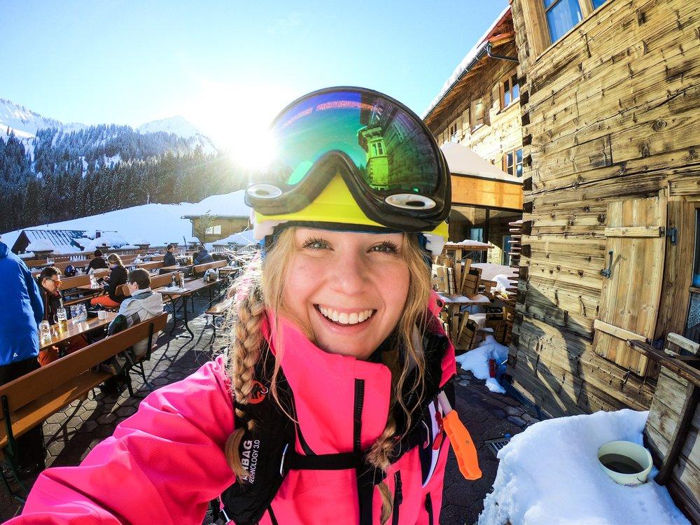 Skiing touring, Austria, Vorarlberg. Ski Ride off piste
