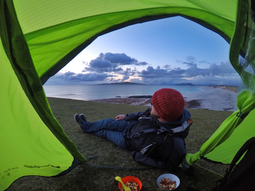Wild camping on the Outer Hebrides, Scotland