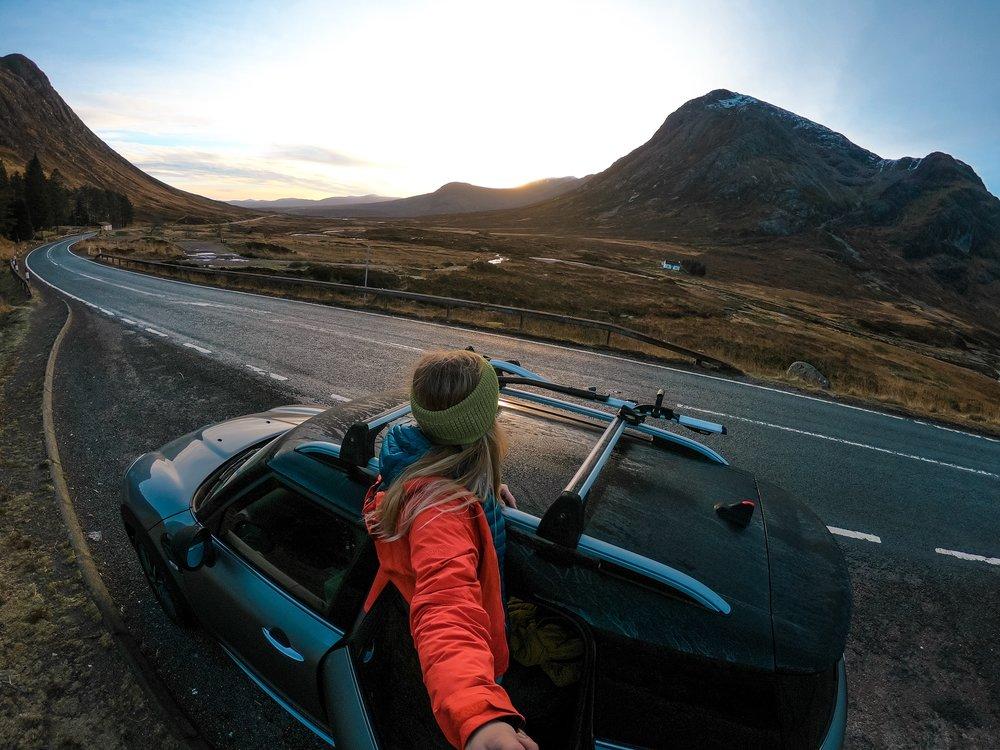 The A82 Glen Coe, Scotland