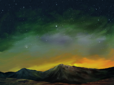 Cosmos - Digital Landscape Painting
