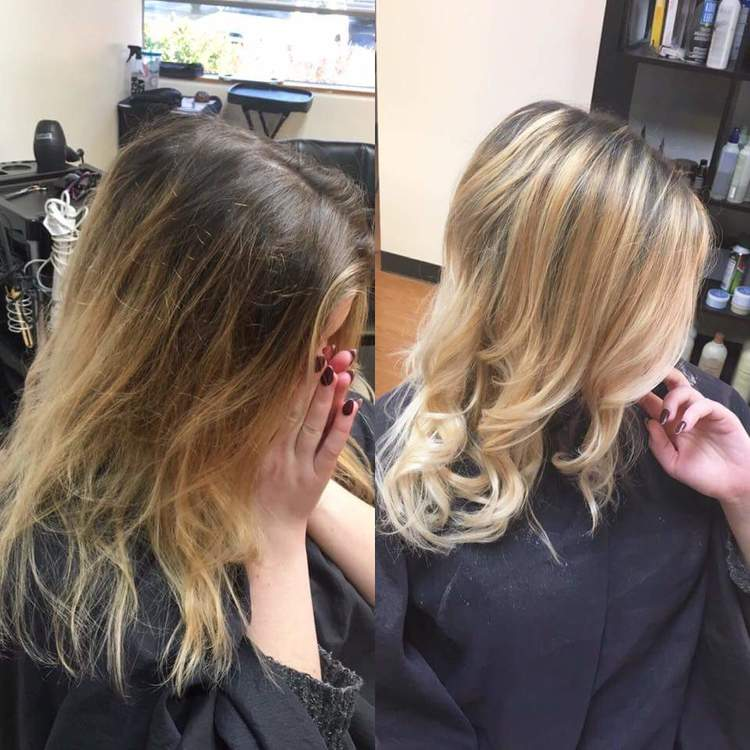 Taking A Grown Out Balayage And Updating It With Fresh Dimension Lighter Blonde Through