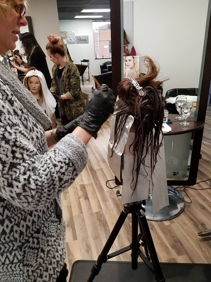 Lisa doing a new dimensional colour balancing technique