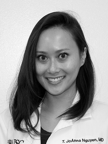 T. JOANNA NGUYEN , MD    Private Practice:  Los ANgeles, CA   HOMETOWN: SOUTHERN, CA   COLLEGE:  BOSTON UNIVERSITY   MEDICAL SCHOOL:  MIAMI UNIVERSITY   HOBBIES:  YOGA, PILATES, FASHION