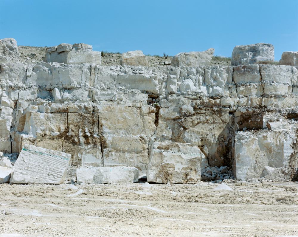 Portland Quarry Face: Portland England, 2009