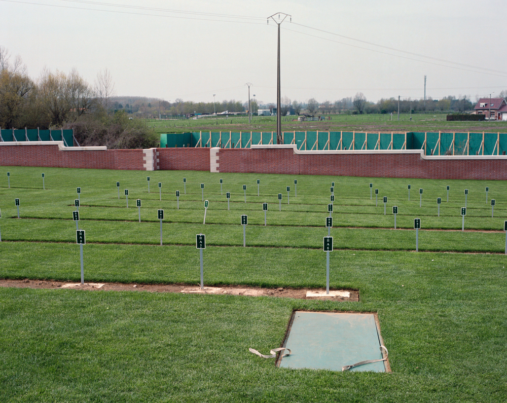 Headstone installation: Fromelles (Pheasant Wood) Military Cemetery, France, 2010