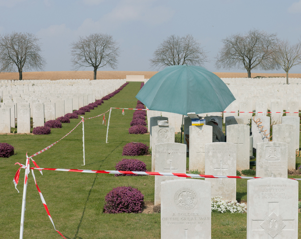 Headstone re-engraving: Ovillers Military Cemetery: France, 2013