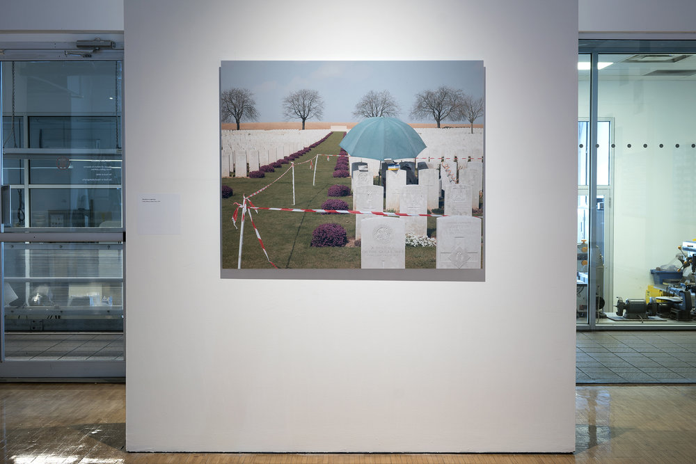Headstone re-engraving,    Ovillers Military Cemetery France, 2013  c-type colour print, mounted on diabond, 122.3cm x 97.2cm