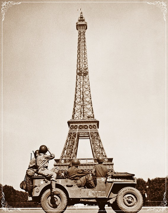 Eiffel Tower, Paris, France, WWII