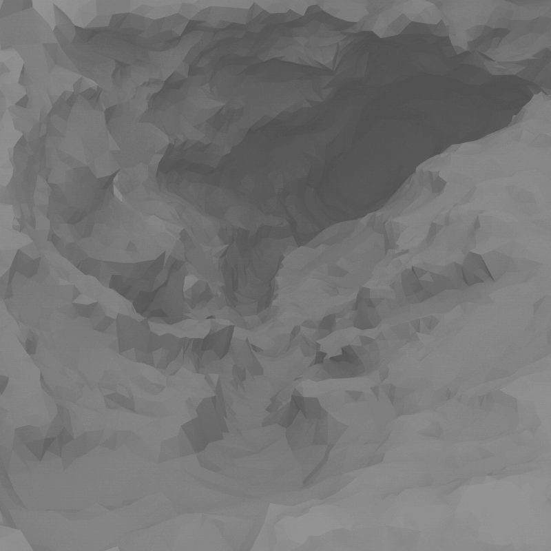 Underwater Cavern Sculpt, Editor View