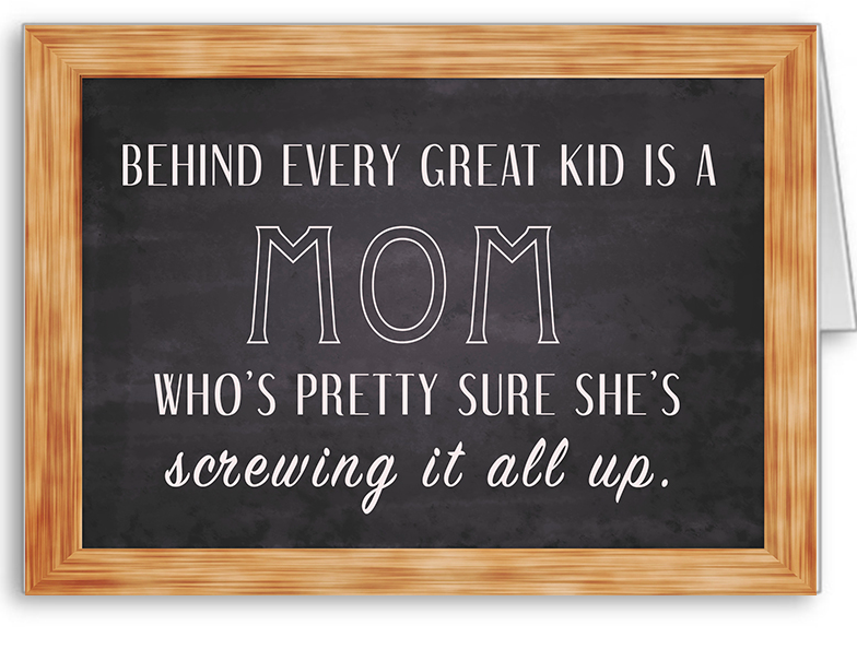 Behind every great kid is a mom who's pretty sure she's sewing it all up.