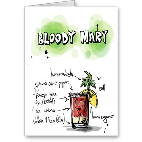Bloody mary recipe party invitation card drink card birthday bloody mary recipe party invitation card drink card birthday party card filmwisefo