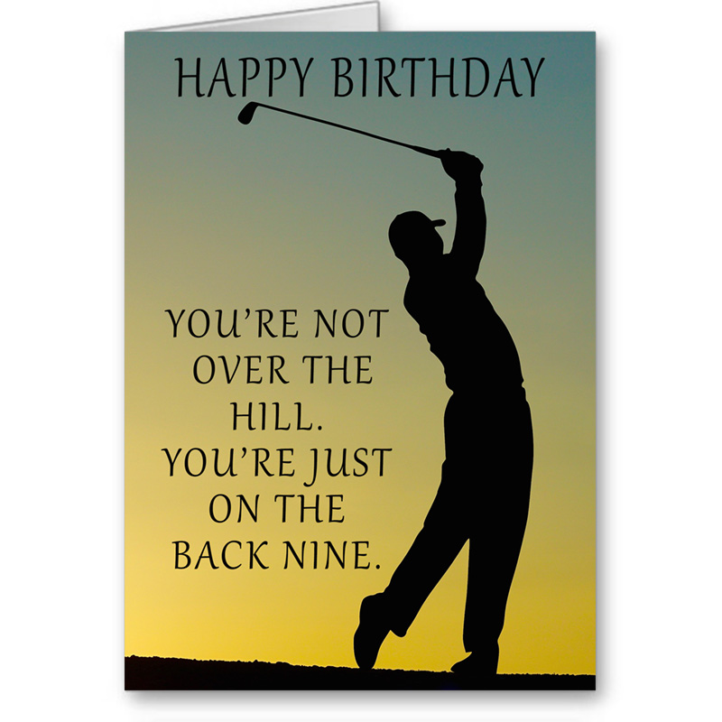 Inspirational quote greeting cards send positive thoughts birthday card for golfer birthday wishes birthday greetings birthday card for him m4hsunfo